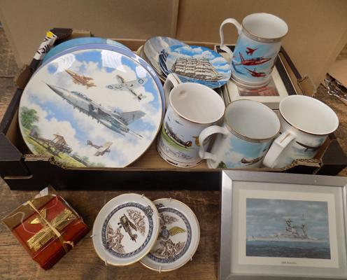 Selection of RAF & Naval items, incl. Coalport