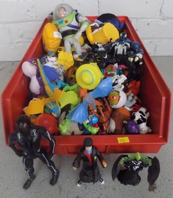 Box of toys & action figures
