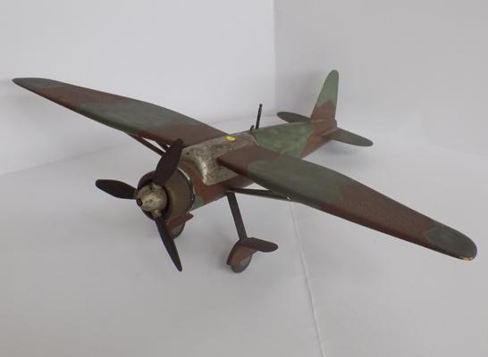 1940's wood and metal Lysander aeroplane model