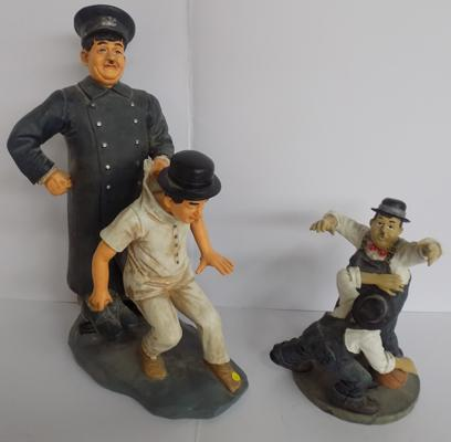 Laurel & Hardy policemen figure & one other