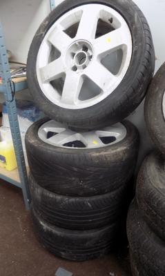 4x Audi wheels & tyres-as seen