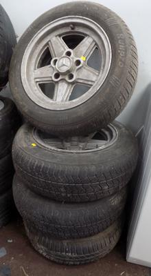 4x Mercedes alloys & tyres-as seen