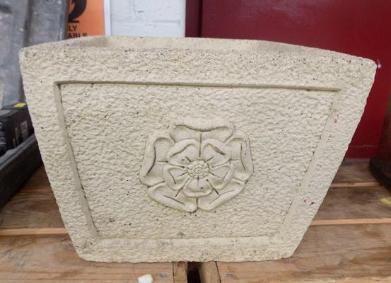 Planter with Yorkshire Rose detail