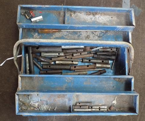 Tool box with many box spanners