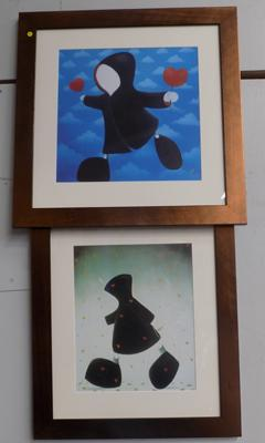 Mackenzie Thorpe print (with initial) & similar (without initial)