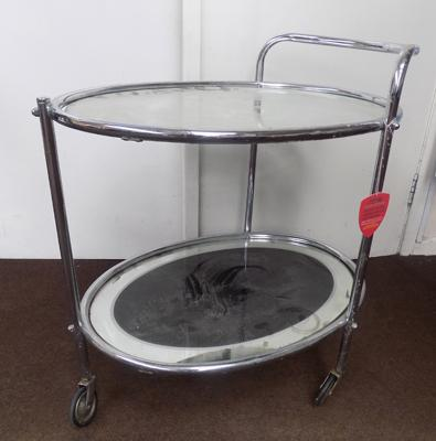 Mirrored chrome trolley
