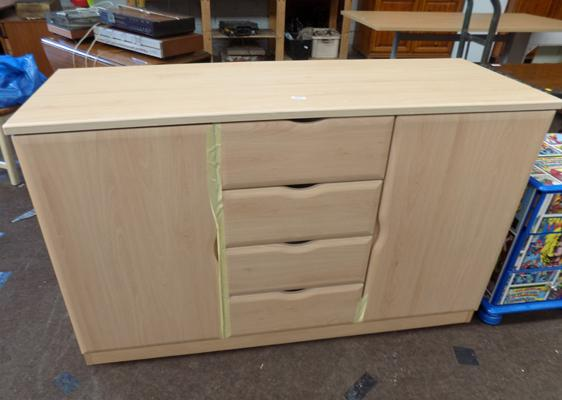 2 Door 4 drawer solid sideboard