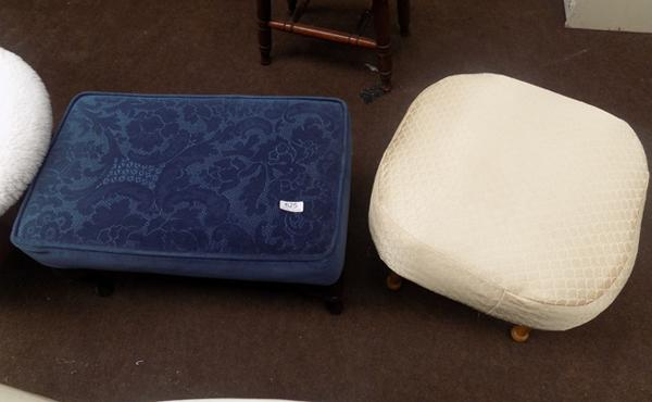 Two retro footstools/pouffes