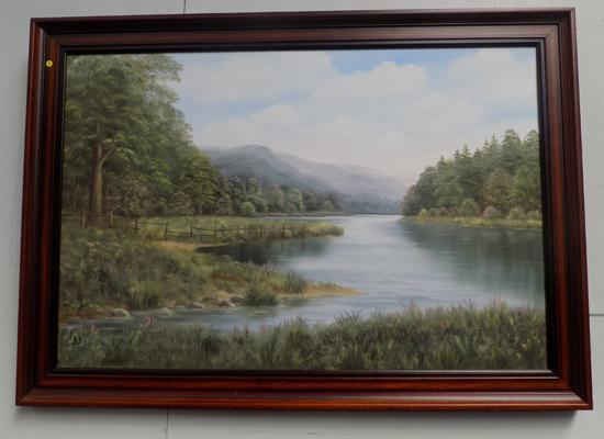 Terry Jahner Rowley 'Derwentwater' oil on canvas