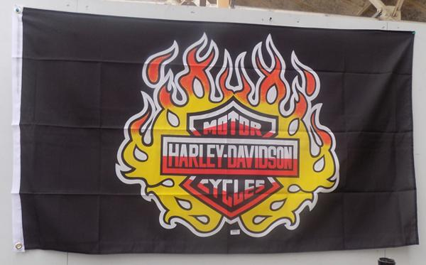 Large 5 ft x 3 ft Harley Davidson flag