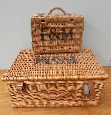 2x F&M (Fortnum & Mason? ) wicker picnic baskets