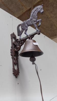 Cast iron large horse bell