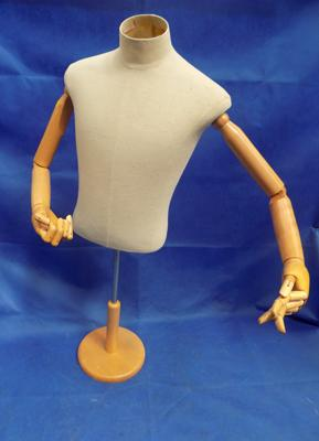 Male tailor's dummy with articulated arms