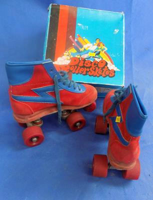 One pair of 1980's rollerskates