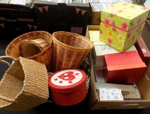 Selection of storage boxes & baskets