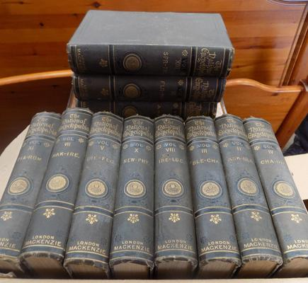 Collection of vintage encyclopedias