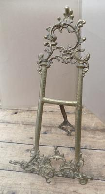 Gilt ornate book stand