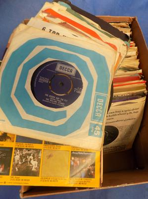 Box of singles records