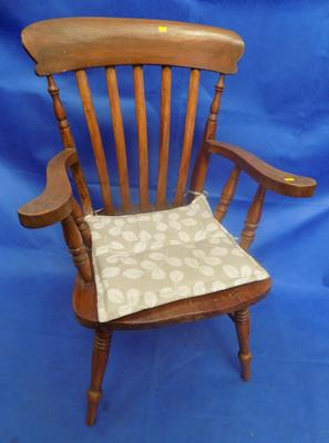 Beech & elm smokers bow captain's chair, no damage