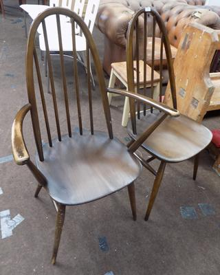 Two Ercol chairs