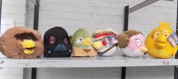 6x new plush Star Wars toys