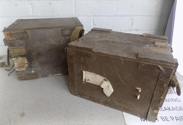 Two ammunition boxes