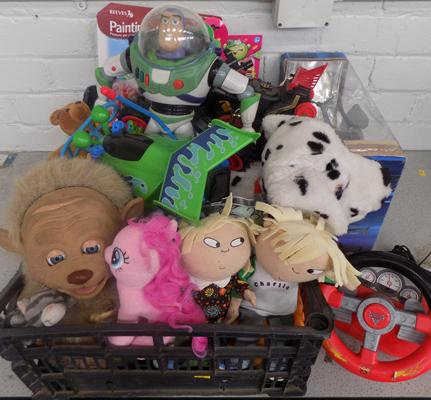 Box of toys inc Toy Story etc