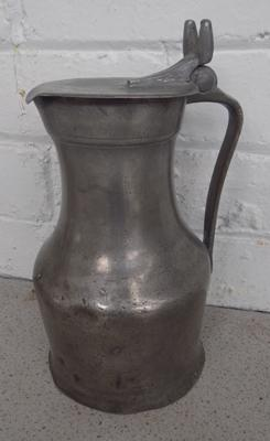Large pewter jug