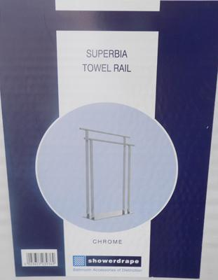 Chrome towel rail boxed/flatpack