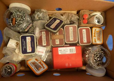 Box of bolts and washers various sizes and others