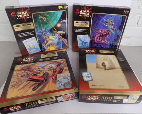 4x Star Wars jigsaws-double sider-complete