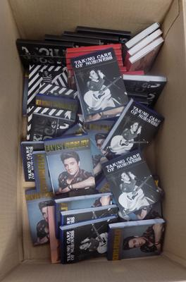 Box of Elvis notebooks