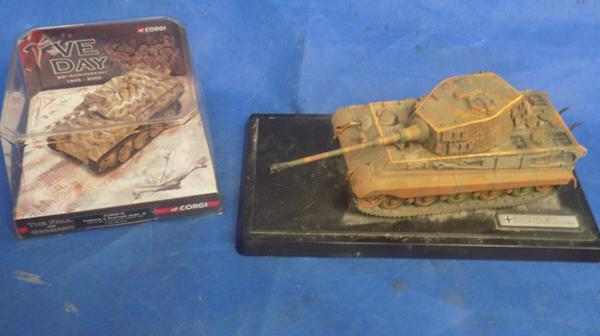 Corgi tank and 1 other