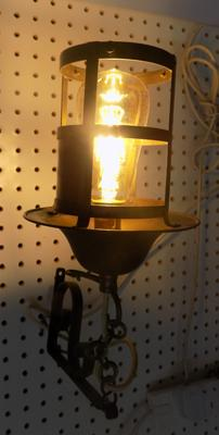 Hanging lantern with new Eddison style bulb