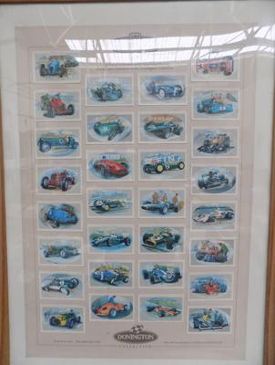 Framed Donnington Collection racing cars