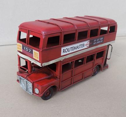 Tin plate London bus