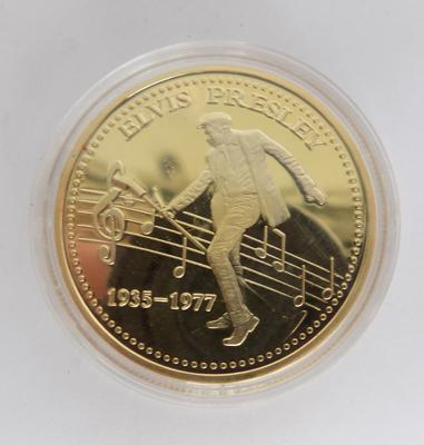 Collector's Elvis coin in gold plate