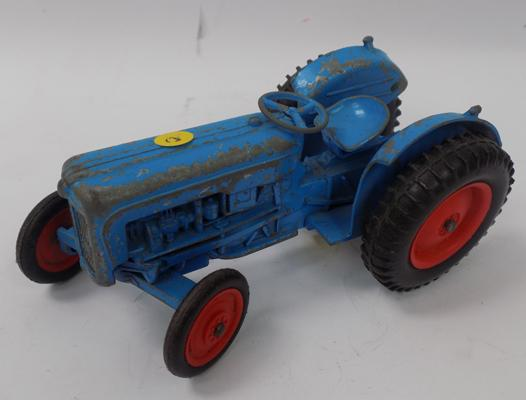 1950's die-cast Fordson Major Tractor, complete,large scale, stamped, made in England