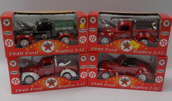 Four boxed 1-32 scale, die-cast trucks & vans - Texaco Old Timer Collection