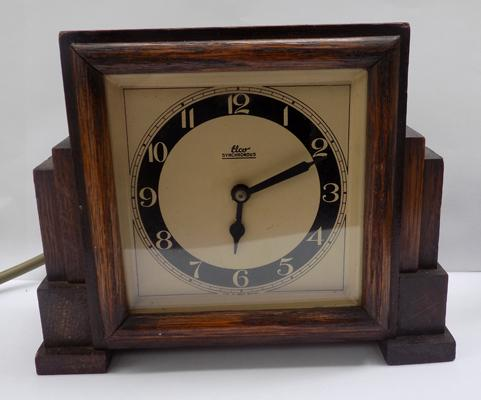 Vintage Elco synchronous clock-late Art Deco plug in, w/o