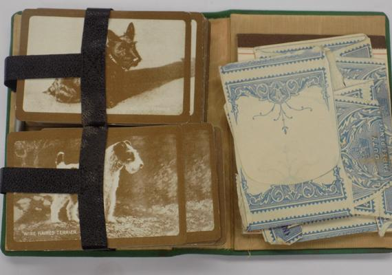 Unusual playing cards set, original wrappers & score book