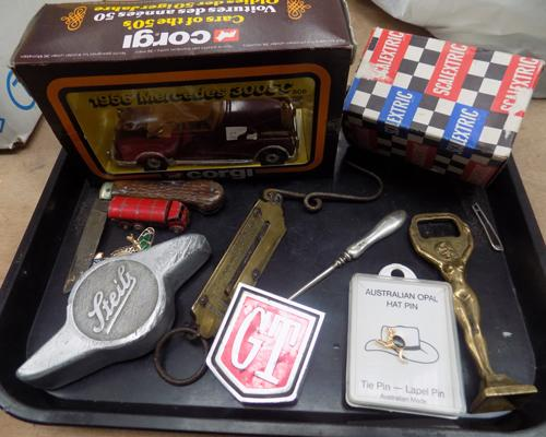 Selection of vintage collectables, incl. silver, motor memorabilia & others