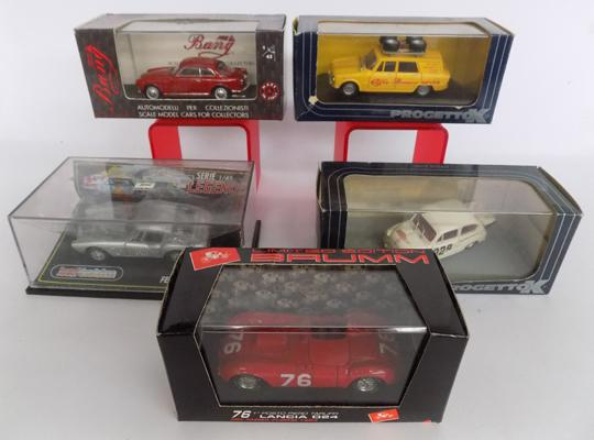 Selection of 5 boxed diecasts inc Lancia & Ferrari