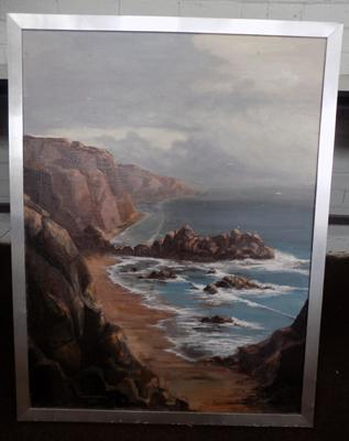 Large oil signed by Randall Deighton 1977-Bingley artist