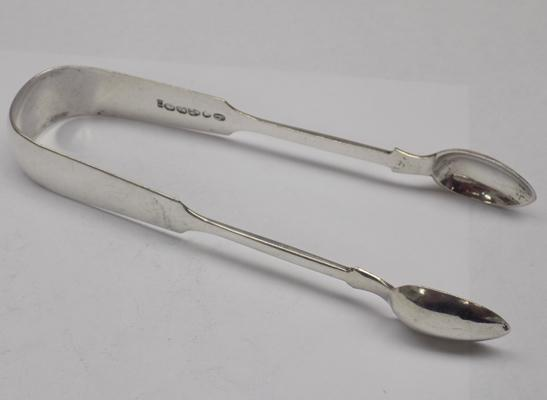Antique Victorian 925 solid silver sugar tongs/nips Newcastle 1879 44 gms