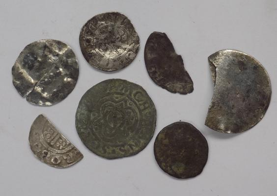 Medieval silver coins & jetton