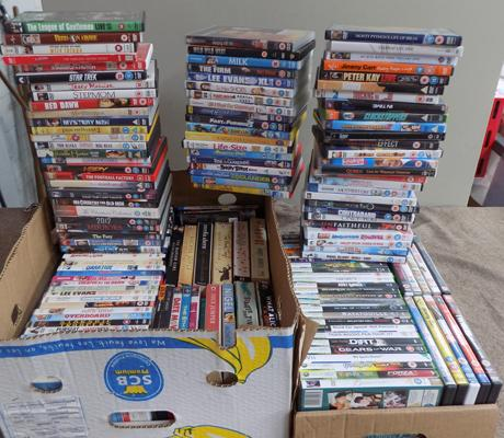 Large selection of DVD's, books, Xbox 360 games etc