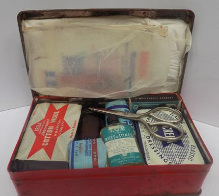 Vintage mini First Aid kit with original sheet