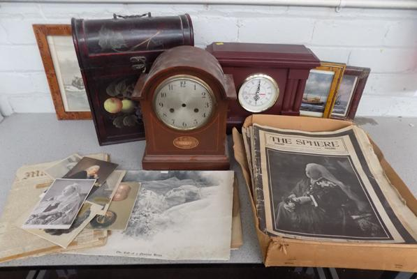 Selection of collectable items inc vintage newspapers etc