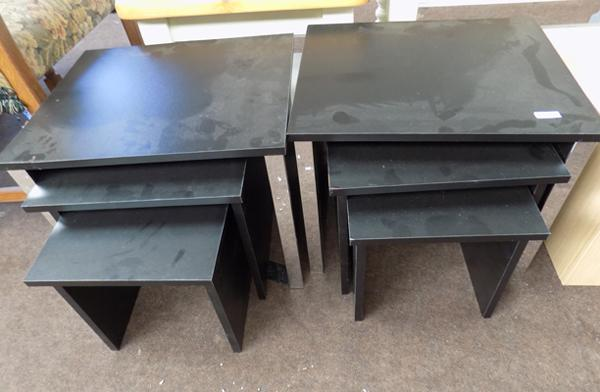 2x Nest of tables in black